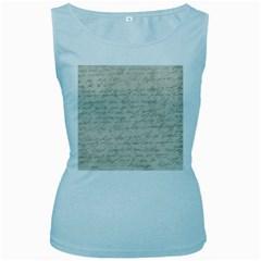 Handwritten Letter 2 Women s Baby Blue Tank Top