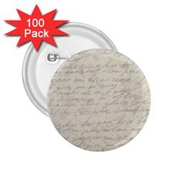 Handwritten Letter 2 2 25  Buttons (100 Pack)