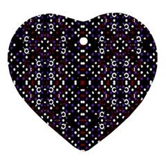 Futuristic Geometric Pattern Ornament (heart)