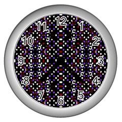 Futuristic Geometric Pattern Wall Clocks (silver)