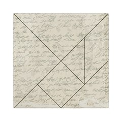 Handwritten Letter 2 Acrylic Tangram Puzzle (6  X 6 )