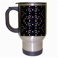 Futuristic Geometric Pattern Travel Mug (silver Gray)