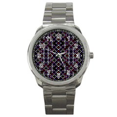 Futuristic Geometric Pattern Sport Metal Watch