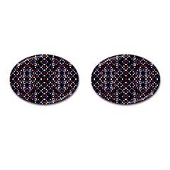Futuristic Geometric Pattern Cufflinks (oval)