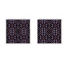 Futuristic Geometric Pattern Cufflinks (square)