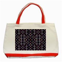 Futuristic Geometric Pattern Classic Tote Bag (red)