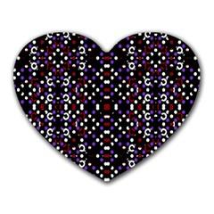 Futuristic Geometric Pattern Heart Mousepads