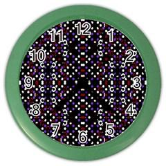 Futuristic Geometric Pattern Color Wall Clocks