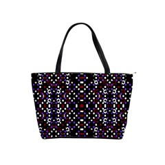 Futuristic Geometric Pattern Shoulder Handbags