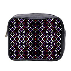 Futuristic Geometric Pattern Mini Toiletries Bag 2 Side