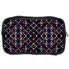 Futuristic Geometric Pattern Toiletries Bags
