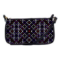 Futuristic Geometric Pattern Shoulder Clutch Bags