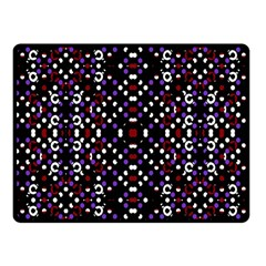 Futuristic Geometric Pattern Fleece Blanket (small)
