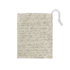 Handwritten Letter 2 Drawstring Pouches (medium)
