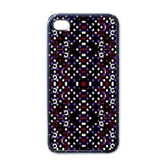 Futuristic Geometric Pattern Apple Iphone 4 Case (black)