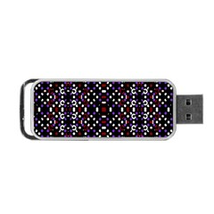 Futuristic Geometric Pattern Portable Usb Flash (one Side)