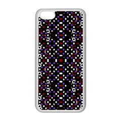 Futuristic Geometric Pattern Apple Iphone 5c Seamless Case (white)