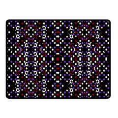 Futuristic Geometric Pattern Double Sided Fleece Blanket (small)