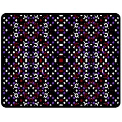 Futuristic Geometric Pattern Double Sided Fleece Blanket (medium)