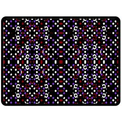 Futuristic Geometric Pattern Double Sided Fleece Blanket (large)