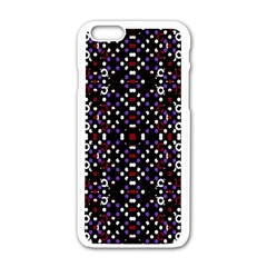 Futuristic Geometric Pattern Apple Iphone 6/6s White Enamel Case
