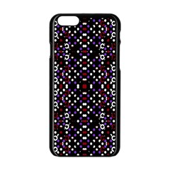 Futuristic Geometric Pattern Apple Iphone 6/6s Black Enamel Case