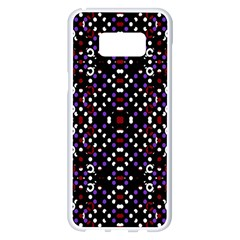 Futuristic Geometric Pattern Samsung Galaxy S8 Plus White Seamless Case