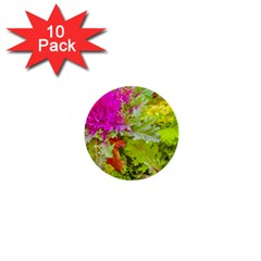 Colored Plants Photo 1  Mini Buttons (10 Pack)