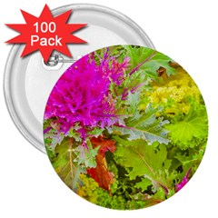 Colored Plants Photo 3  Buttons (100 Pack)