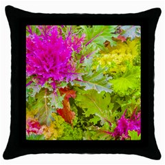 Colored Plants Photo Throw Pillow Case (black)