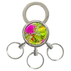 Colored Plants Photo 3 Ring Key Chains