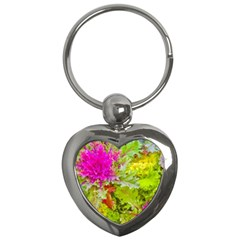 Colored Plants Photo Key Chains (heart)