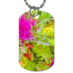Colored Plants Photo Dog Tag (one Side)