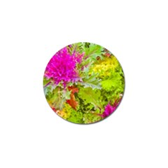 Colored Plants Photo Golf Ball Marker (10 Pack)