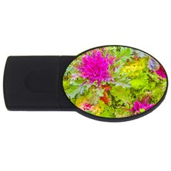 Colored Plants Photo Usb Flash Drive Oval (2 Gb)