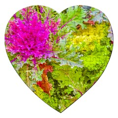 Colored Plants Photo Jigsaw Puzzle (heart)