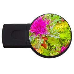 Colored Plants Photo Usb Flash Drive Round (4 Gb)