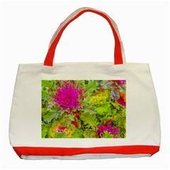 Colored Plants Photo Classic Tote Bag (red)