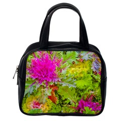 Colored Plants Photo Classic Handbags (one Side)