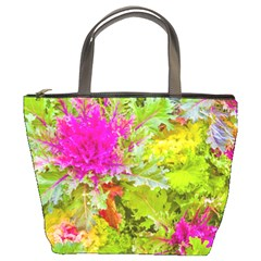 Colored Plants Photo Bucket Bags