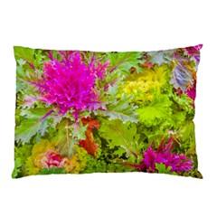 Colored Plants Photo Pillow Case