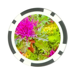 Colored Plants Photo Poker Chip Card Guard (10 Pack)