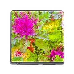 Colored Plants Photo Memory Card Reader (square)