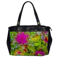 Colored Plants Photo Office Handbags