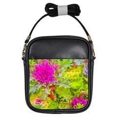 Colored Plants Photo Girls Sling Bags