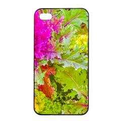 Colored Plants Photo Apple Iphone 4/4s Seamless Case (black)