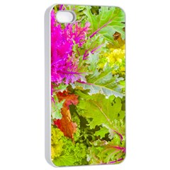 Colored Plants Photo Apple Iphone 4/4s Seamless Case (white)