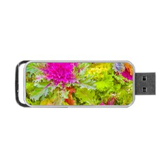 Colored Plants Photo Portable Usb Flash (two Sides)