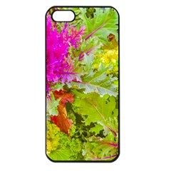 Colored Plants Photo Apple Iphone 5 Seamless Case (black)