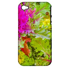 Colored Plants Photo Apple Iphone 4/4s Hardshell Case (pc+silicone)